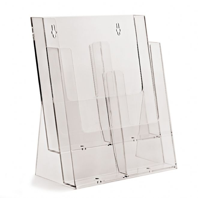 2 Pocket A4 Portrait Leaflet Holder - supplied with optional pocket dividers